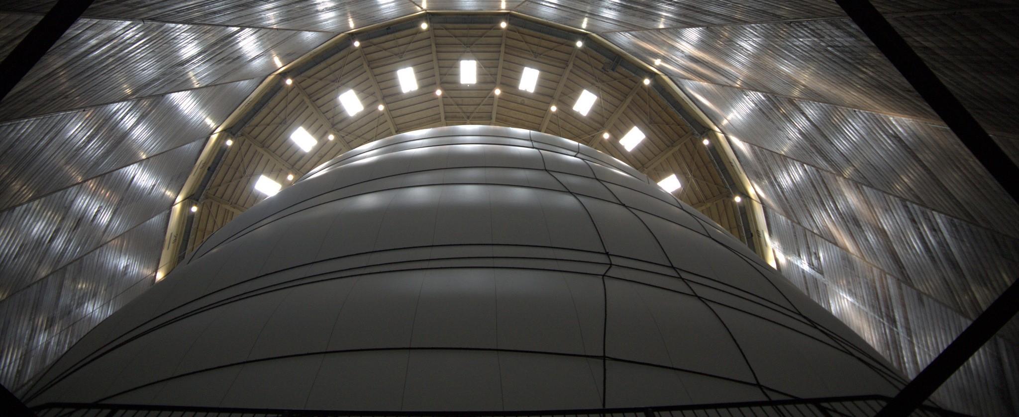 Dem Christo seine Kunst im Ruhrgebiet: Big Air Package im Gasometer Oberhausen
