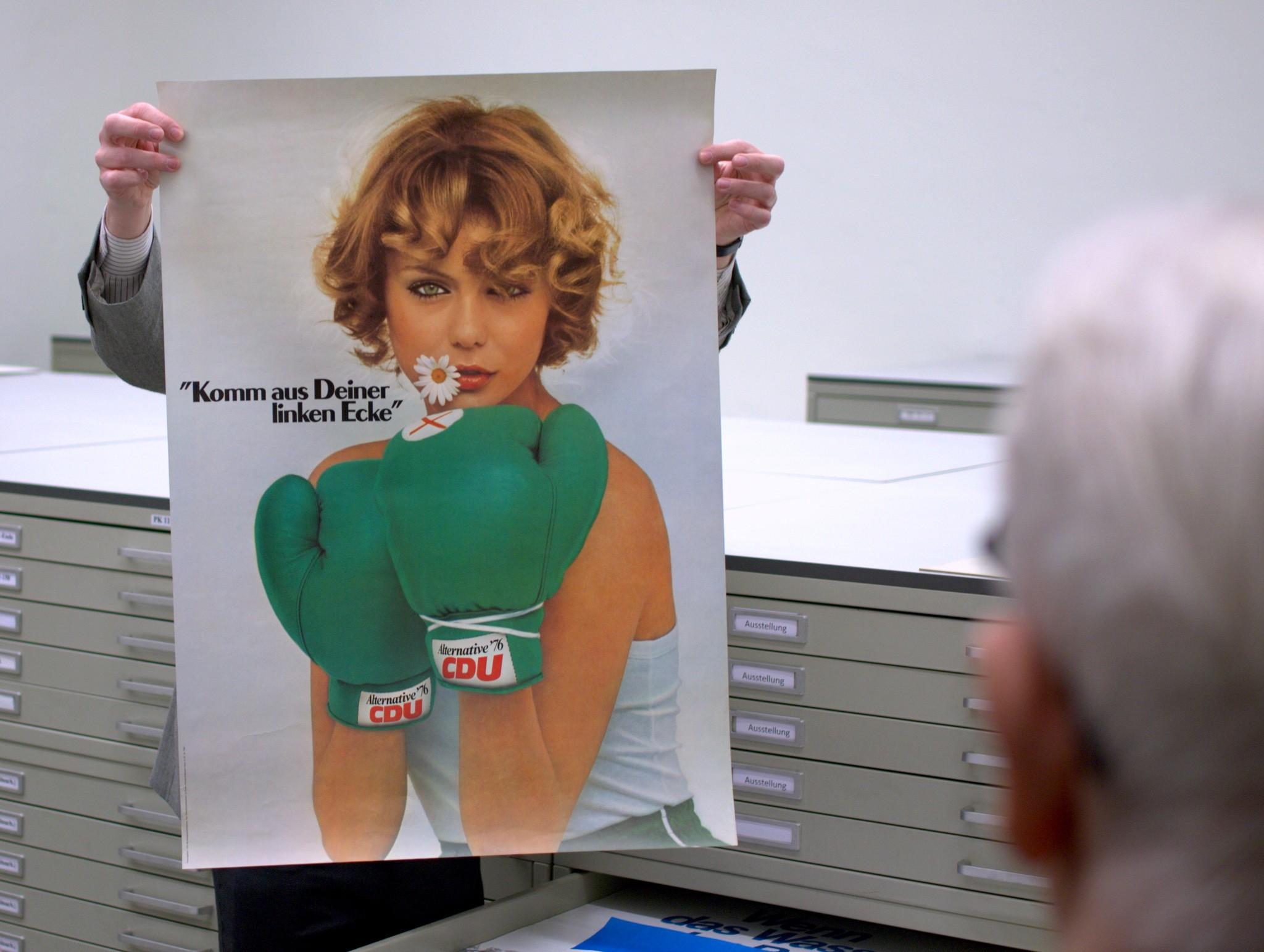 Wahlplakat der CDU: Komm aus Deiner linken Ecke. 1976.