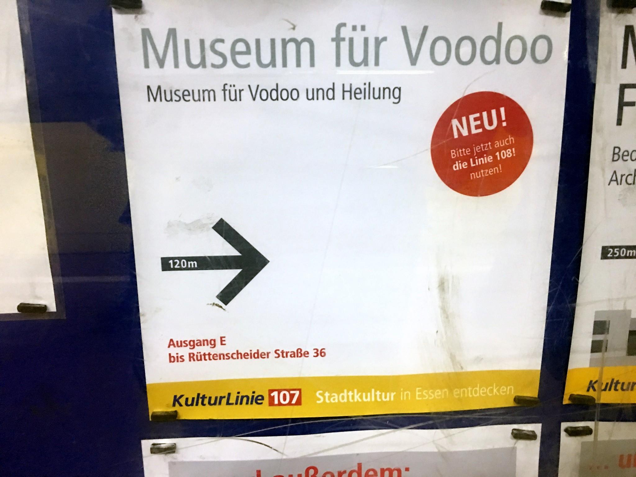 Auch mit der U-Bahn erreichbar: das Museum für Voodoo und Heilung.