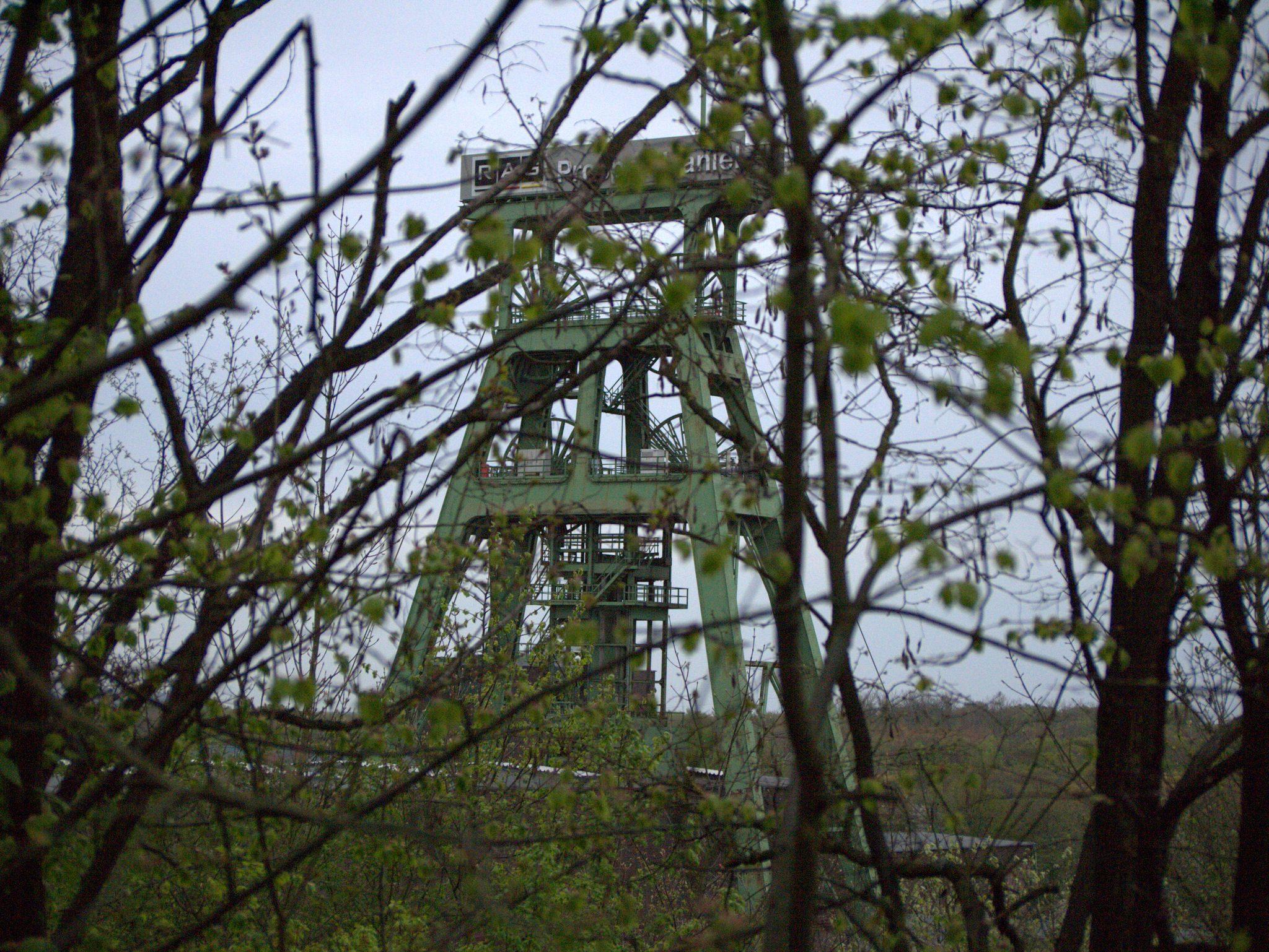 Blick auf den Förderturm Prosper Haniel.