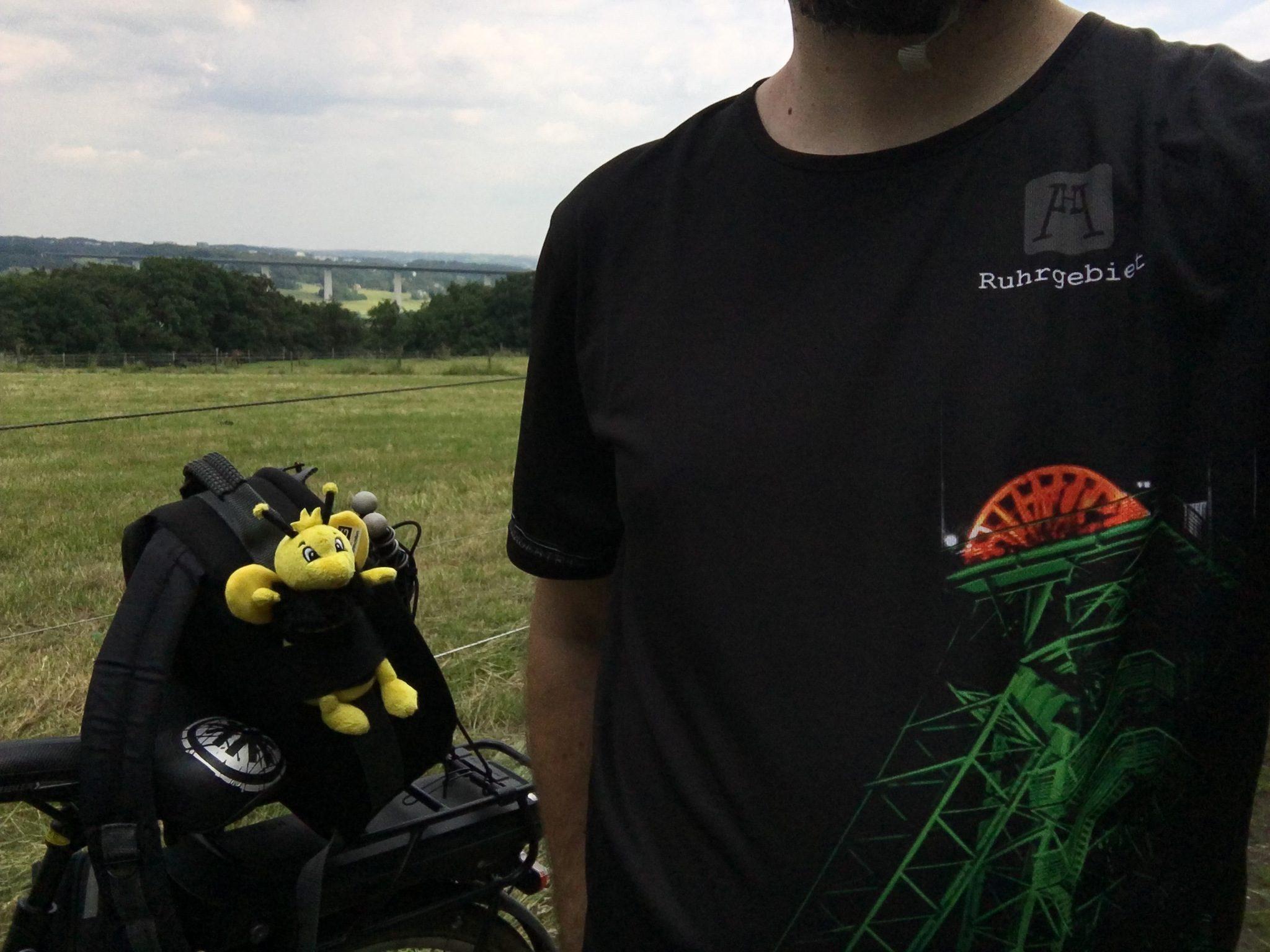 Mein Ruhrgebietsshirt und die RAG-Biene sind auch dabei.