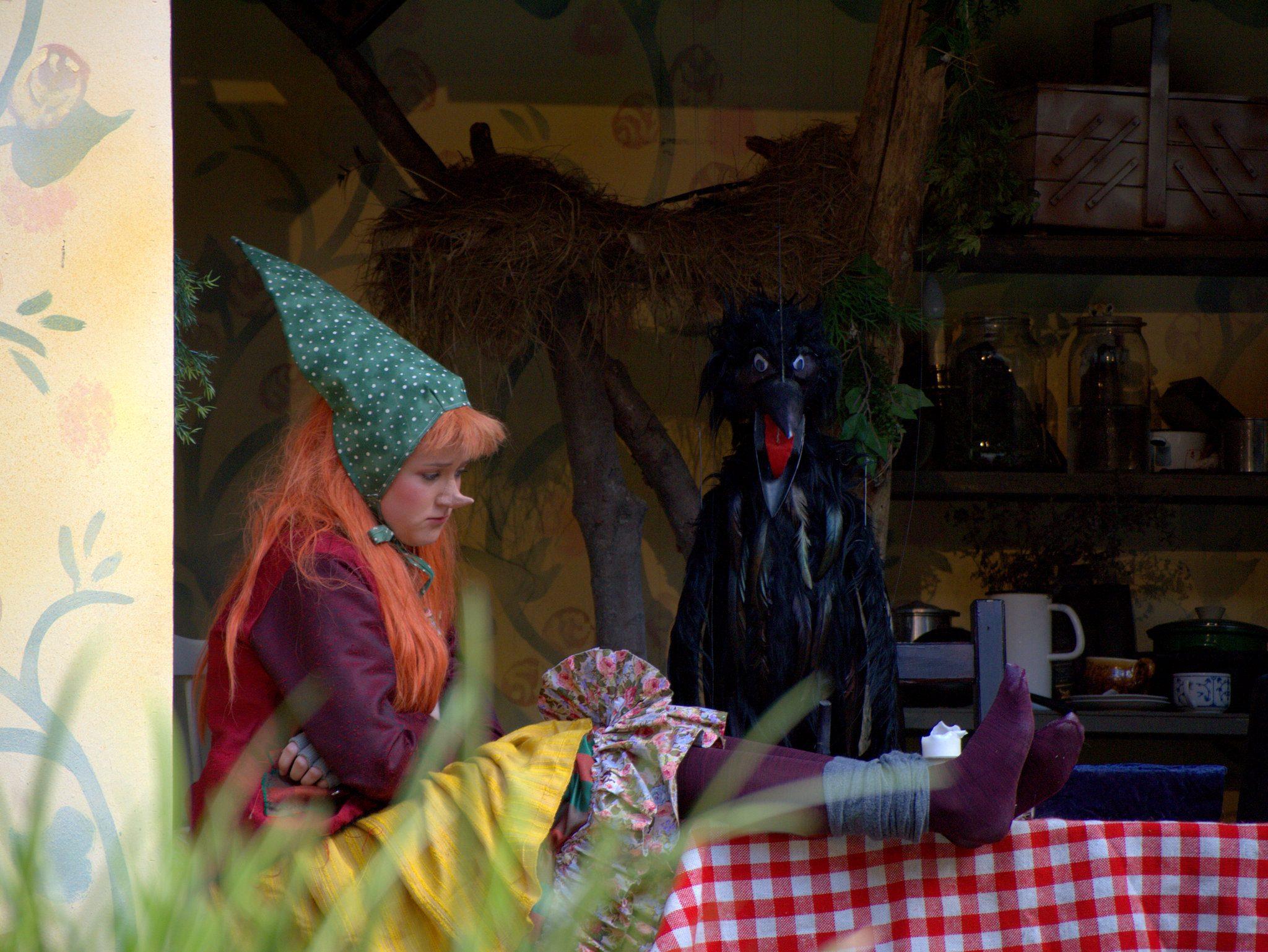 Im Häuschen der kleinen Hexe.