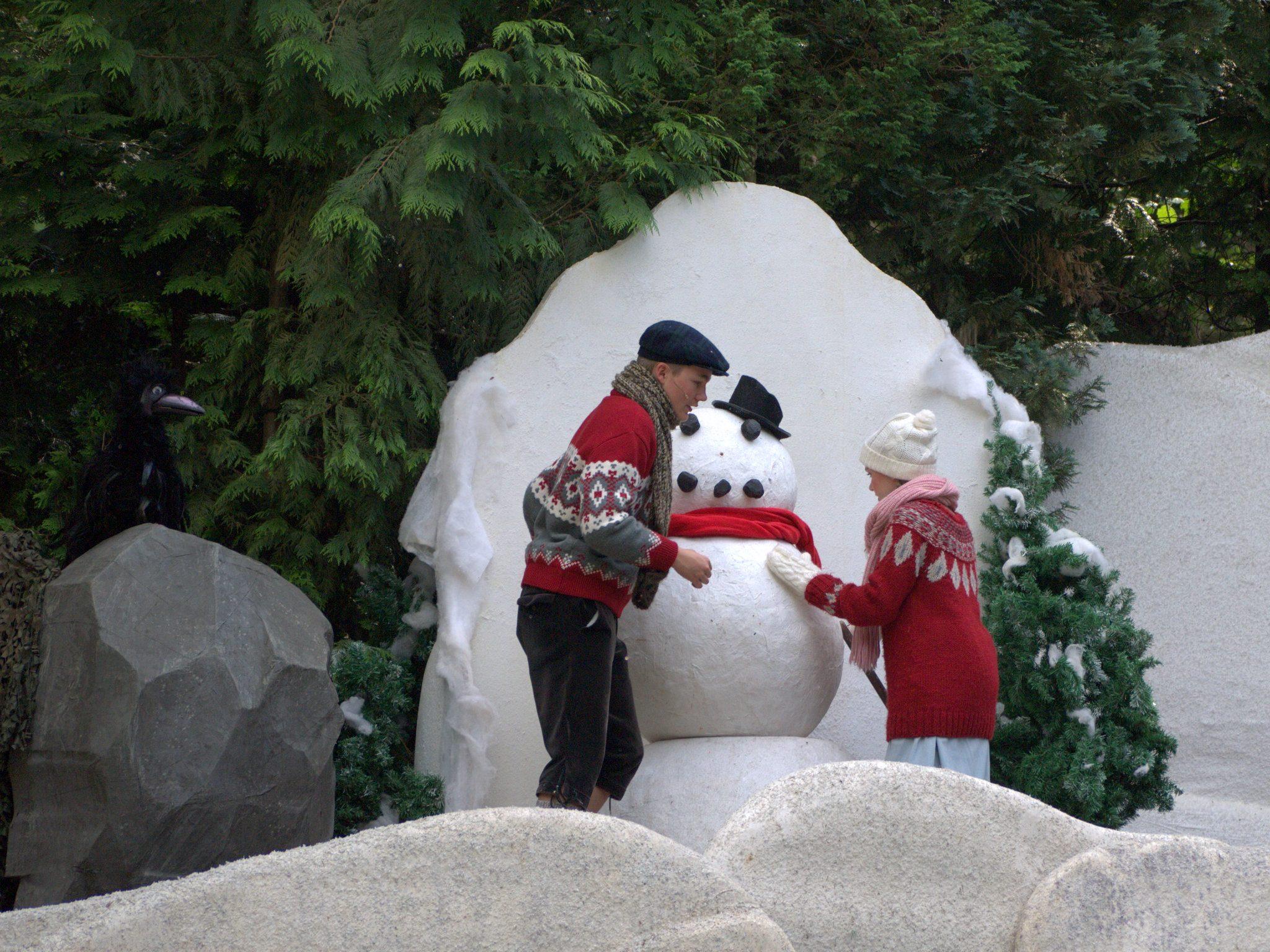 Da muss ein Schneemann her!