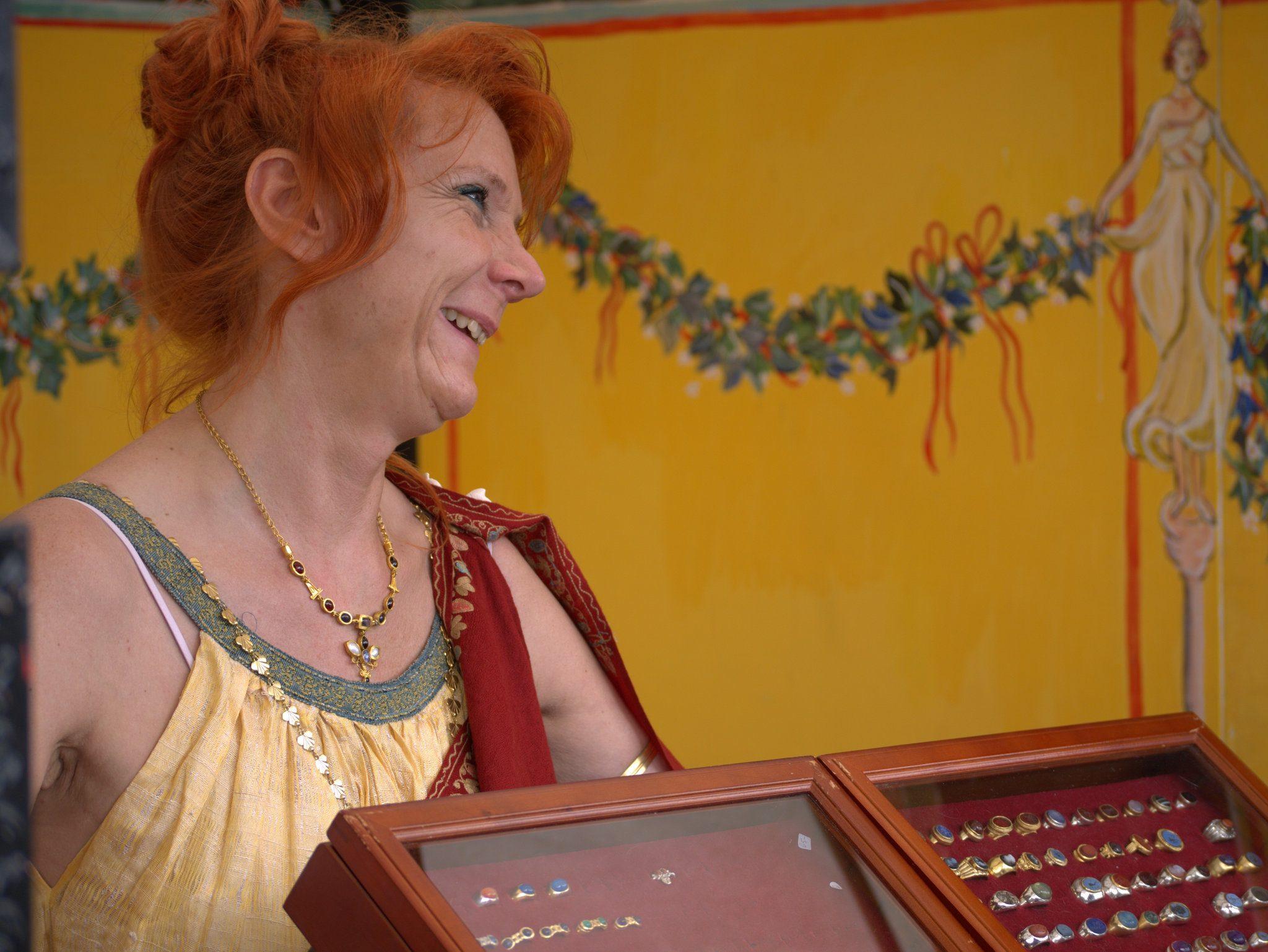 Eine römische Schmuckhändlerin.