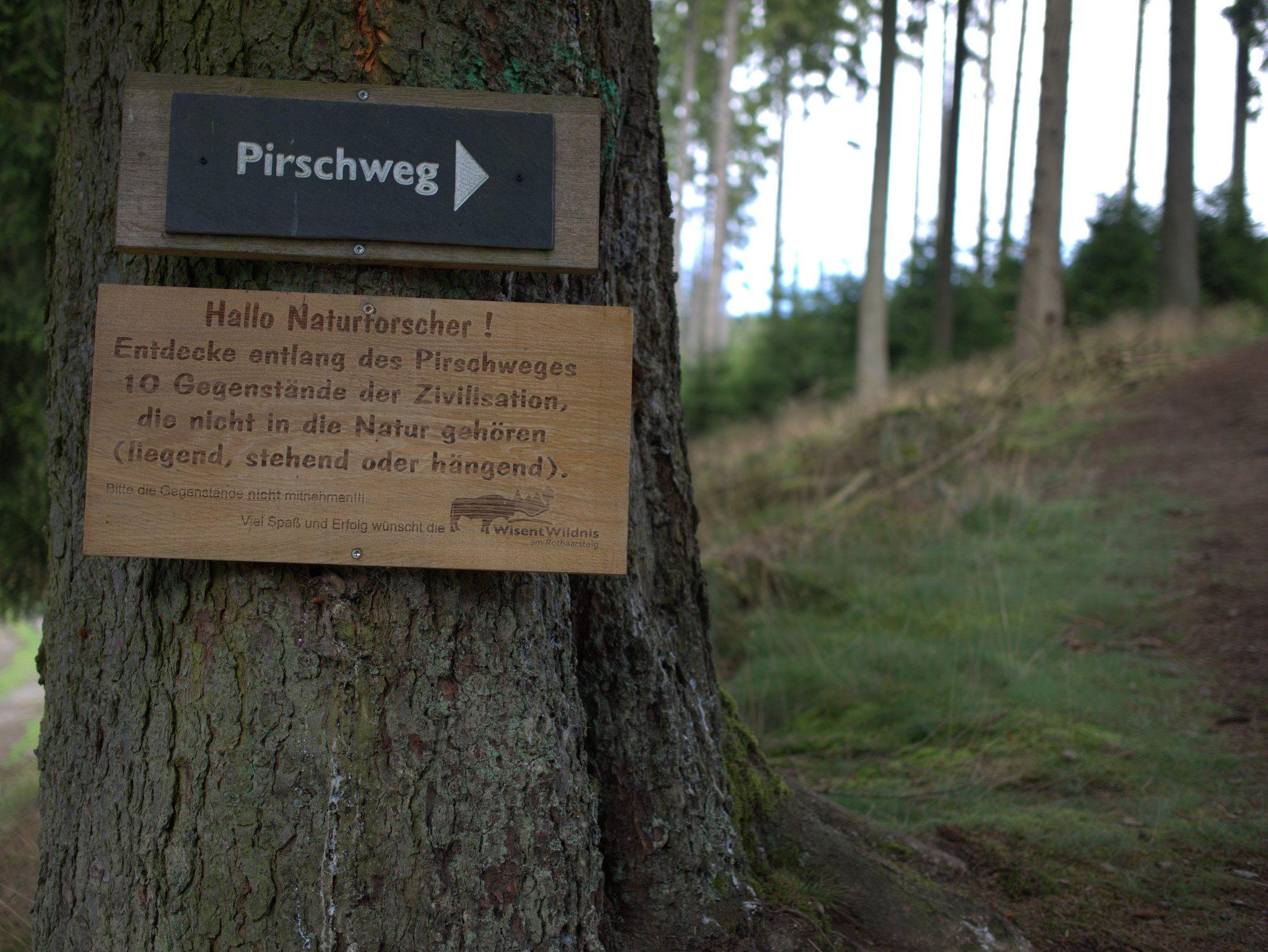 Der Pirschweg.