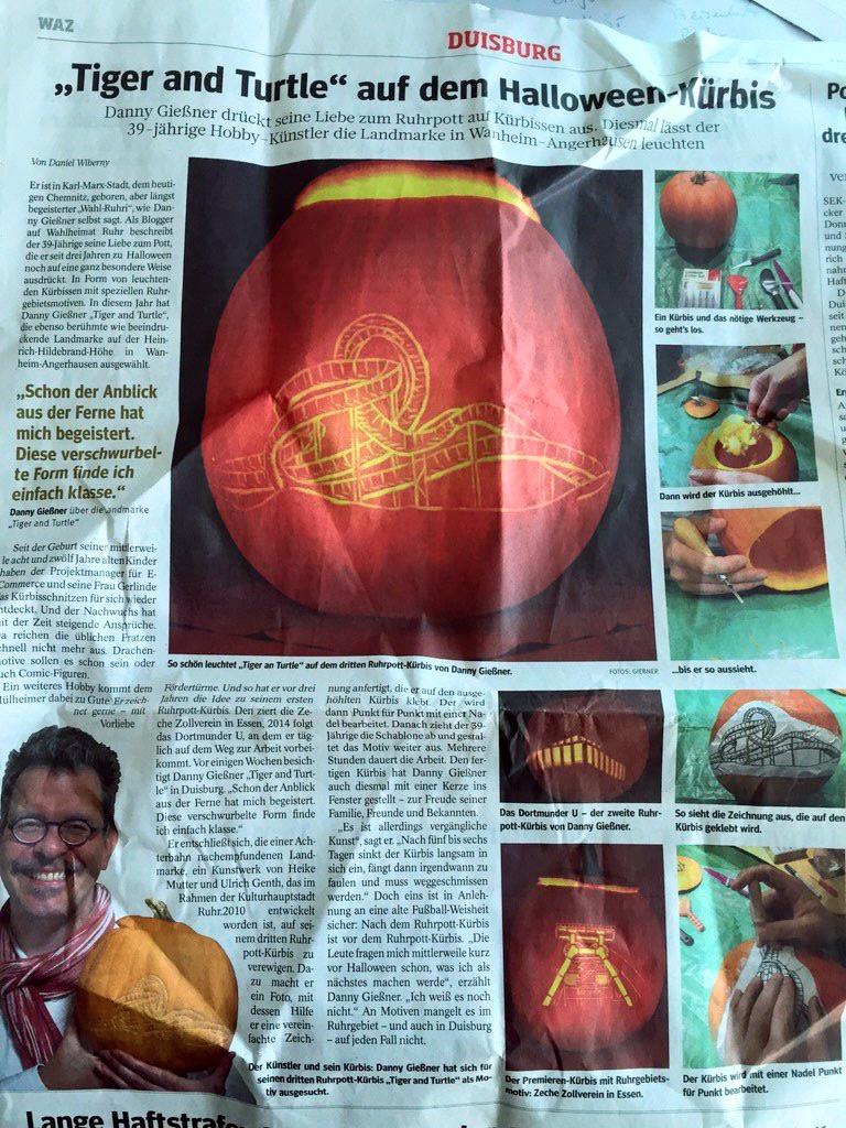 Großflächiger Artikel in der WAZ Duisburg vom 30.10.2015 (mit freundlicher Genehmigung der Redaktion)