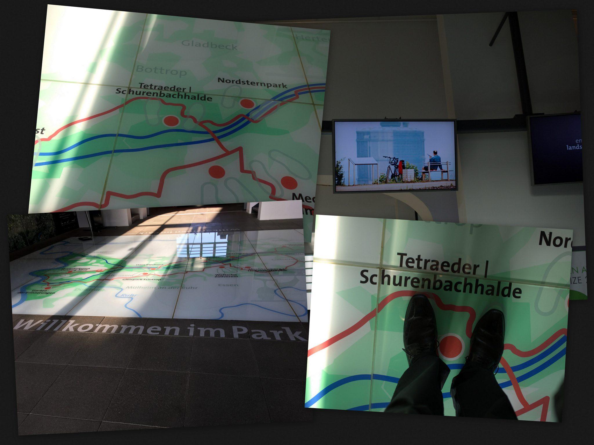 Interaktive Karte des Emscher Landschaftsparks.