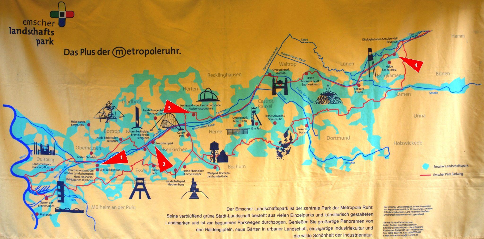 Der Emscher Landschaftspark.