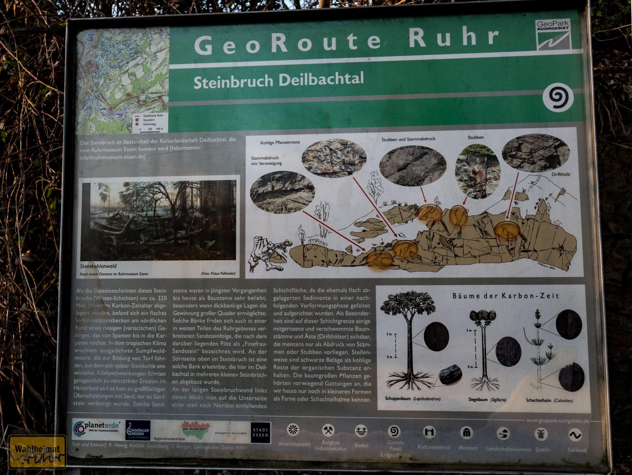 Hinweistafel am Steinbruch (Klick öffnet größere Ansicht).