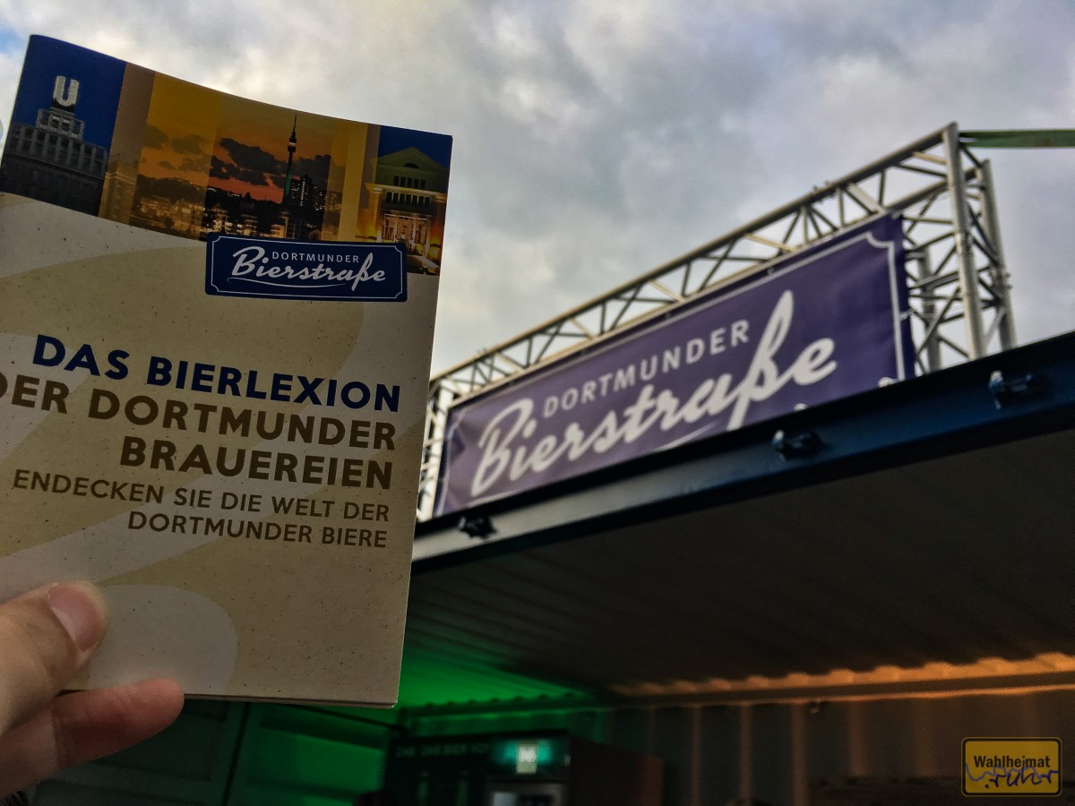 ...und dann befüllen. Z.B. hier in der Dortmunder Bierstraße mit regionalen Bieren...