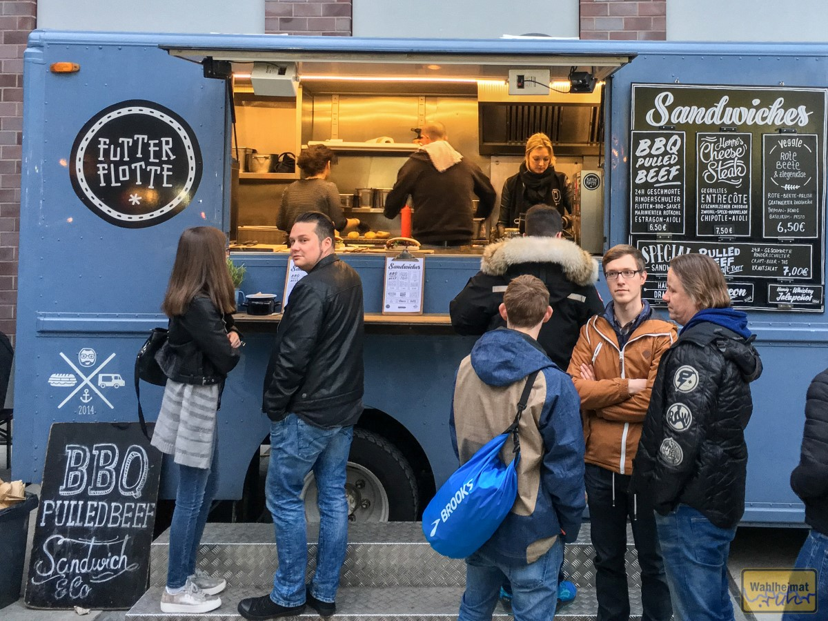 Streetfood-Angebote sorgen für eine solide Grundlage...