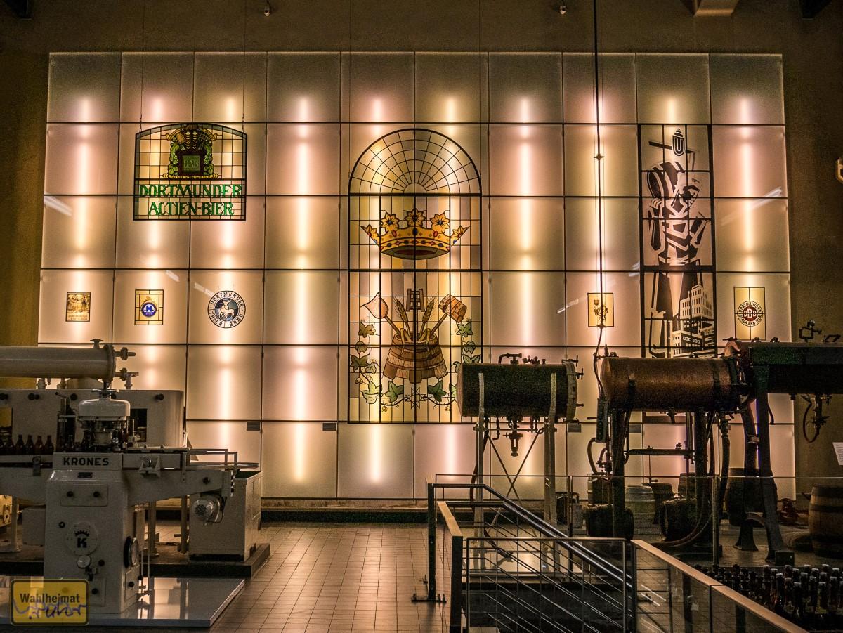 Glasfenster Dortmunder Brauereien.