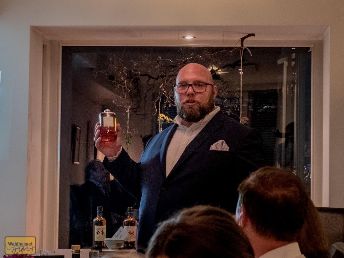 So muss ein japanischer Whisky aussehen: die charakteristische Flasche von Nikka from the barrel.
