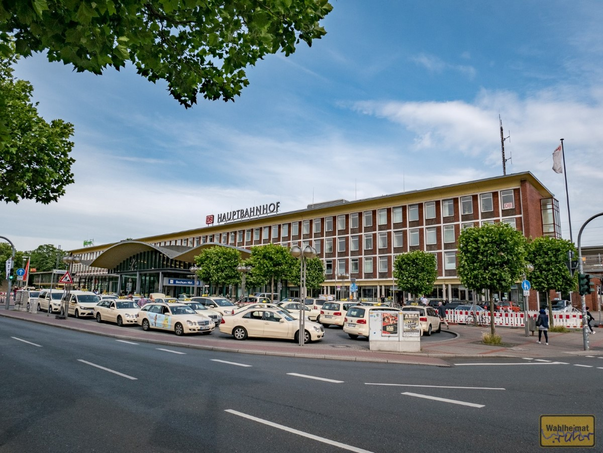 Der Hauptbahnhof Bochum. Hier steigt Stefan wieder ein, in den Zug zurück nach München...