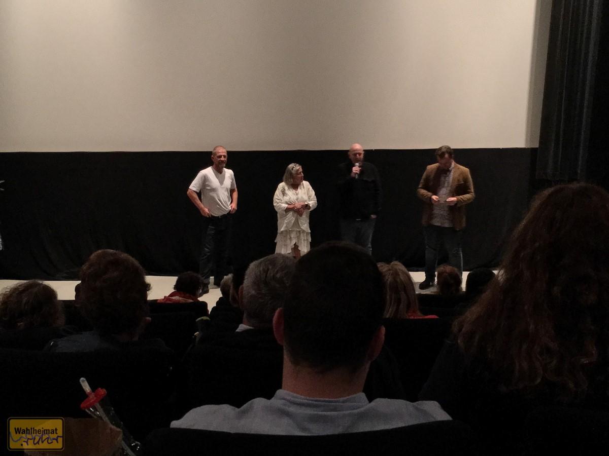 Von links nach rechts: Sönke Wortmann, Elfriede Fey, Frank Goosen und die Filmpassage Mülheim