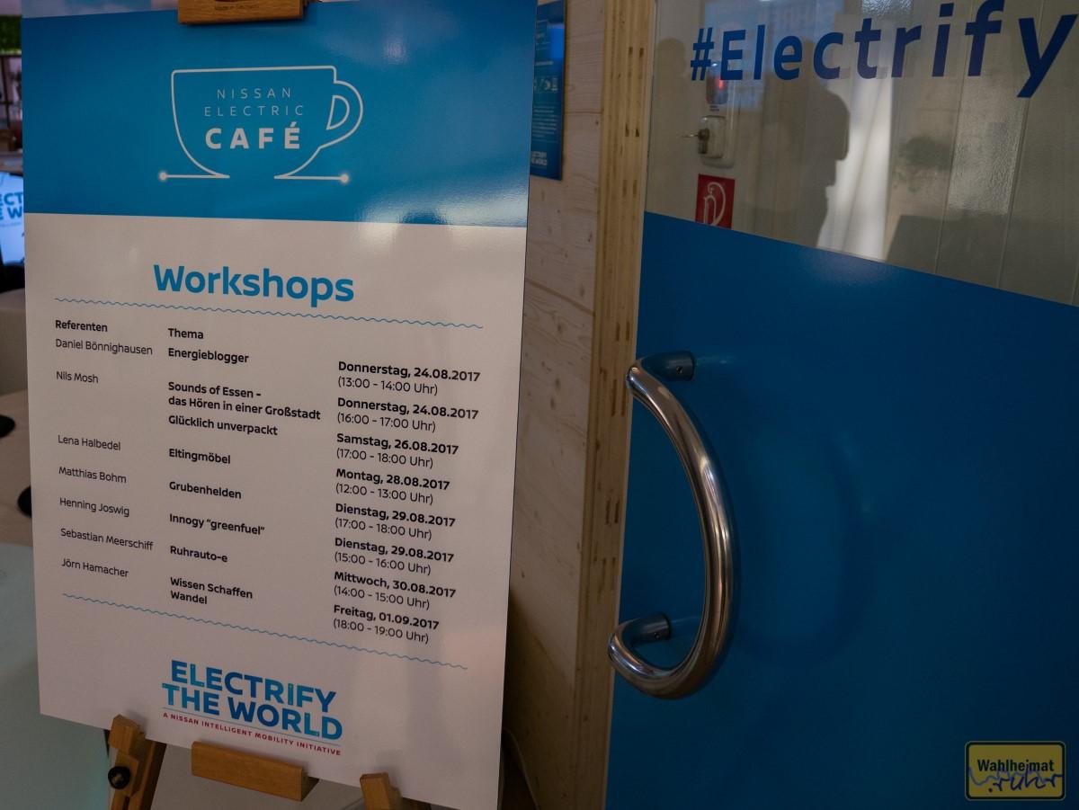 Workshops und Vorträge rund um Nachhaltigkeit und Energie: Künstler, Upcycling und mehr.