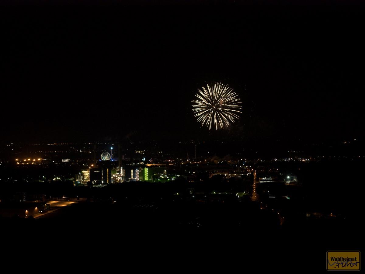 Und dann geht's los, das Feuerwerk.