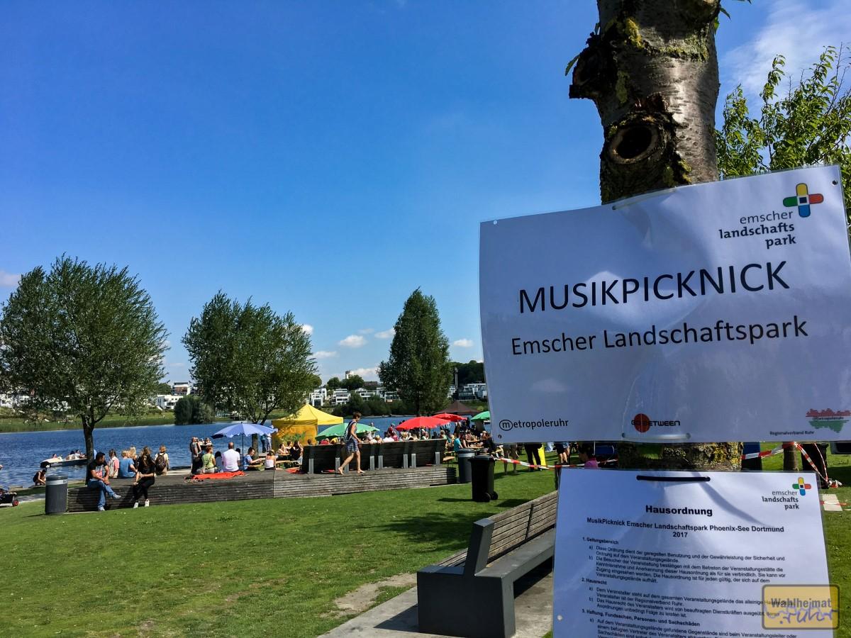 Großartiges Wetter für das Musikpicknick am Phoenixsee!