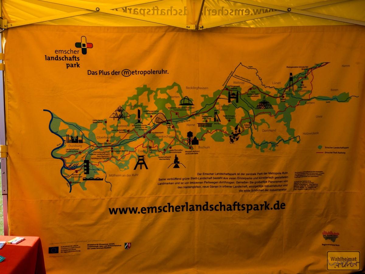 Ein Team vom Emscher Landschaftspark ist auch da.