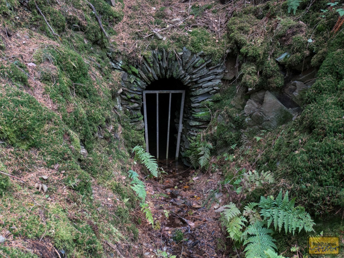 Ein Bächlein rinnt aus dem Stollen hervor, ist das Grubenwasser?