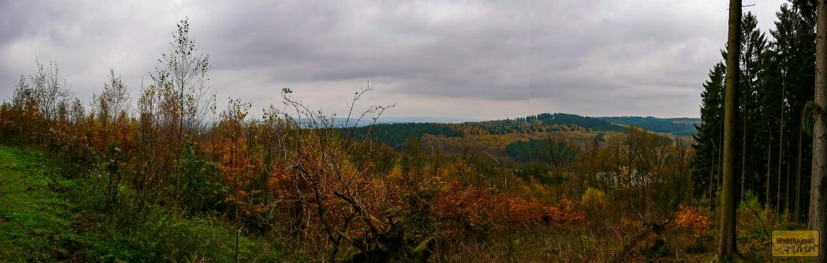 Von hier hat man einen wunderbaren Weitblick über das Siegerland.