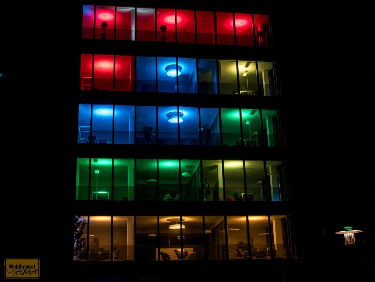 Jeder Raum kann individuell angesteuert werden - sowohl in Farbe als auch Intensität.