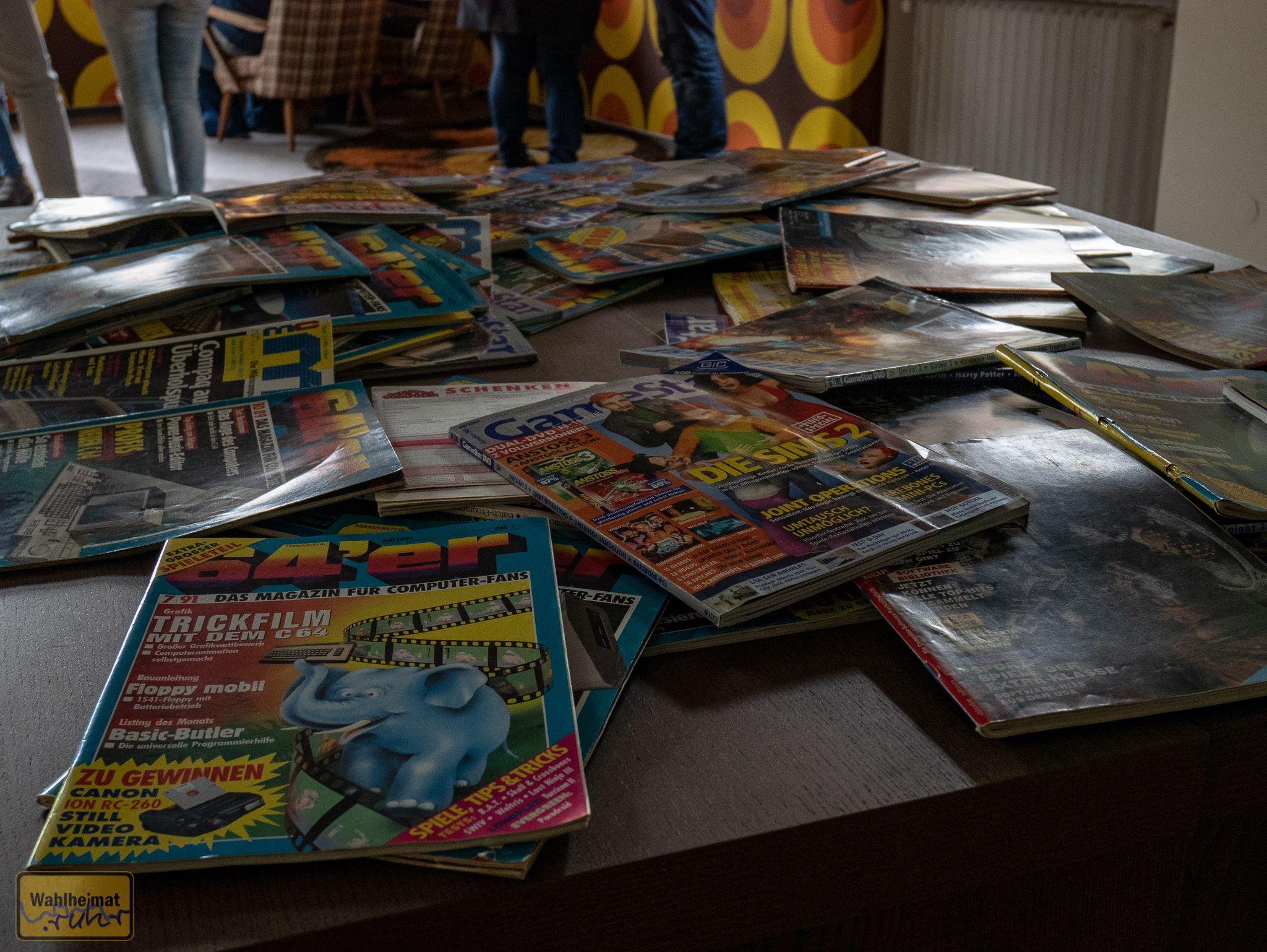 Gamezeitschriften satt.
