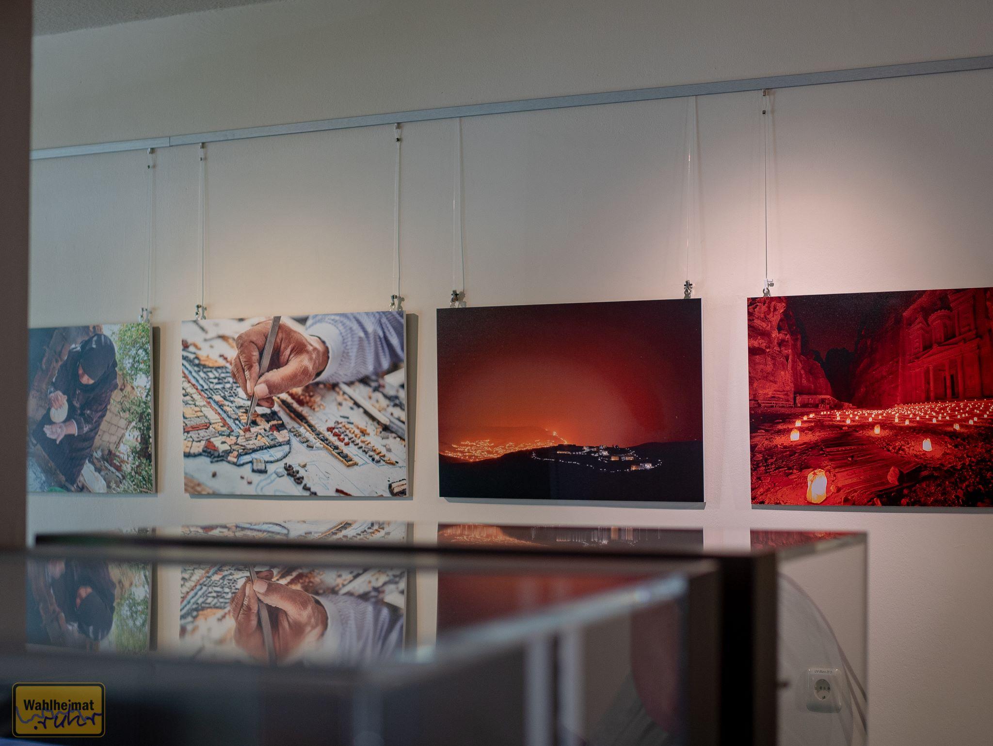 Zauberhafte Aufnahmen aus Jordanien bilden einen der Schwerpunkte in der Ausstellung.