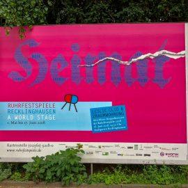 Ruhrepos. Die Ruhrfestspiele Recklinghausen und eine ganz besondere Premiere.