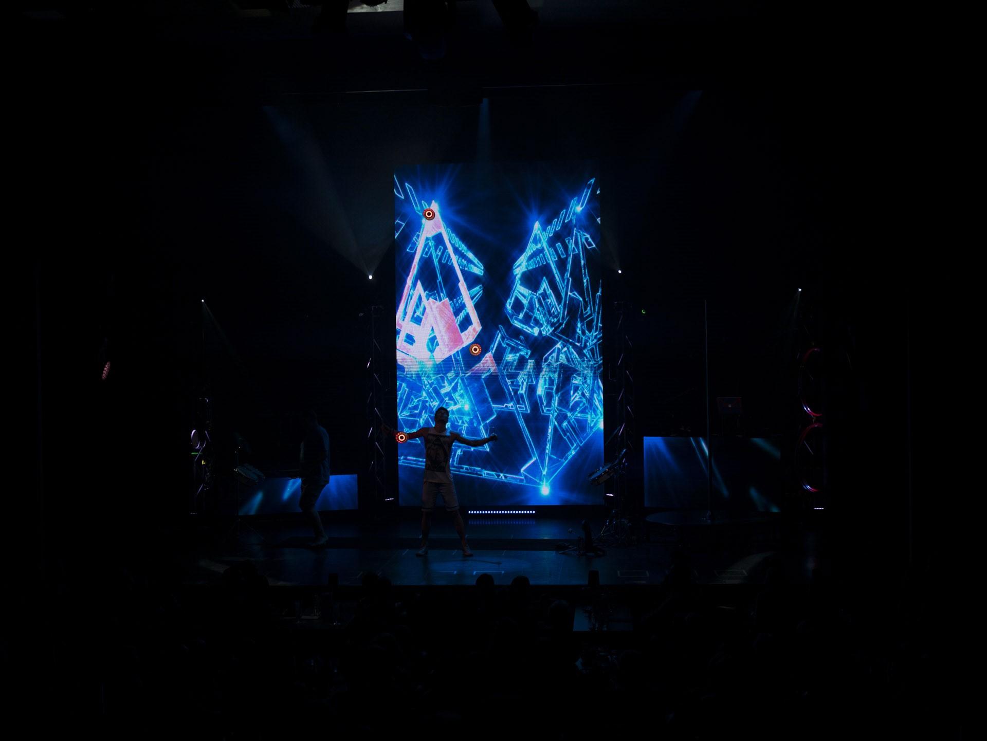 Sehr cool: beleuchtete Diabolos.