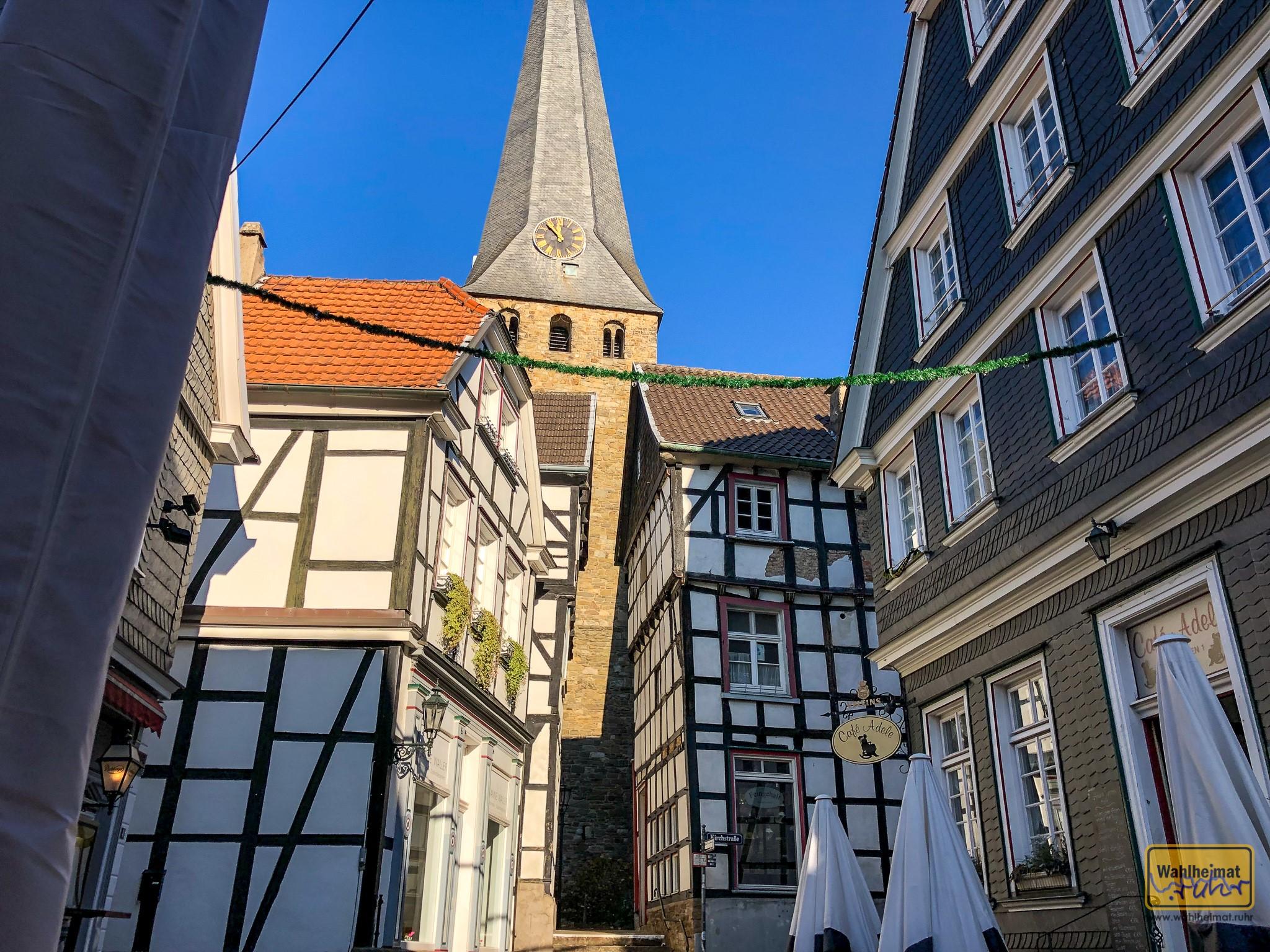 Mitten in der Altstadt von Hattingen: das Café Adele.