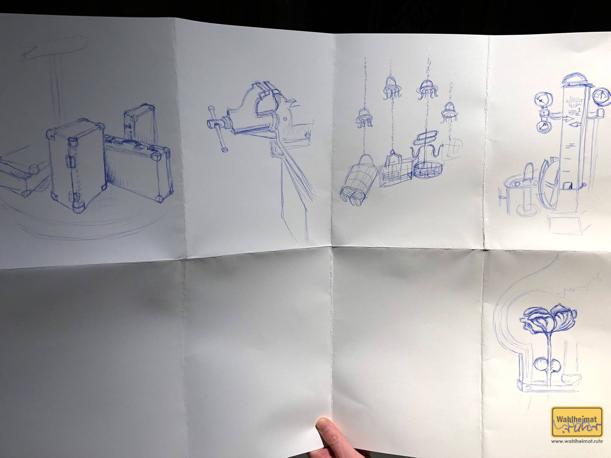 ...und das sind Bettinas gesammelte Kreationen. Sie kann toll zeichnen, oder?