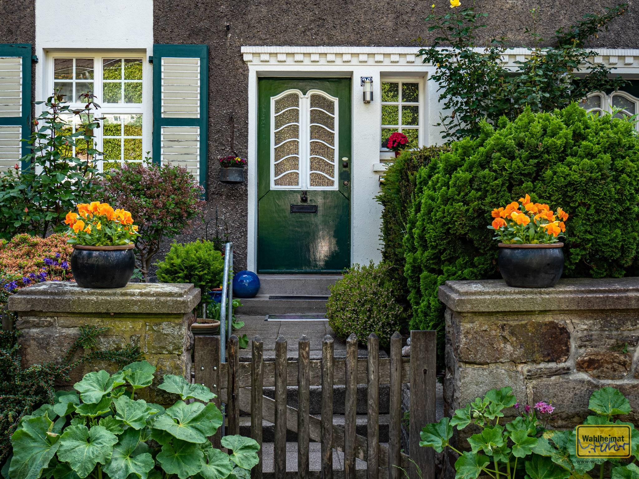 Auf der Margarethenhöhe finden sich viele schöne Einfamilienhäuser nach Entwürfen von Georg Metzendorf.