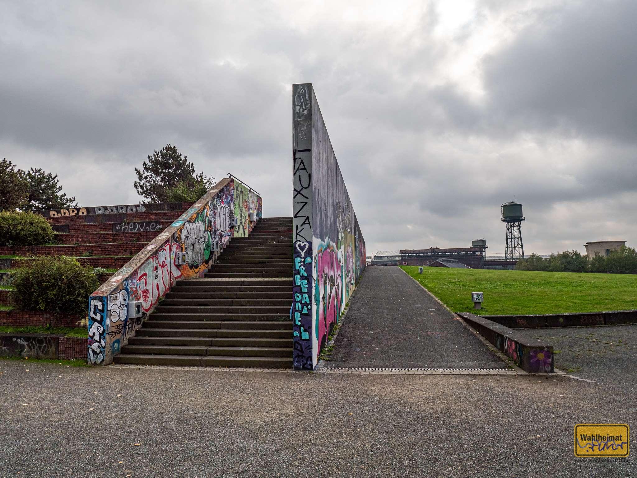 Graffiti findet sich zahlreich im Westpark.