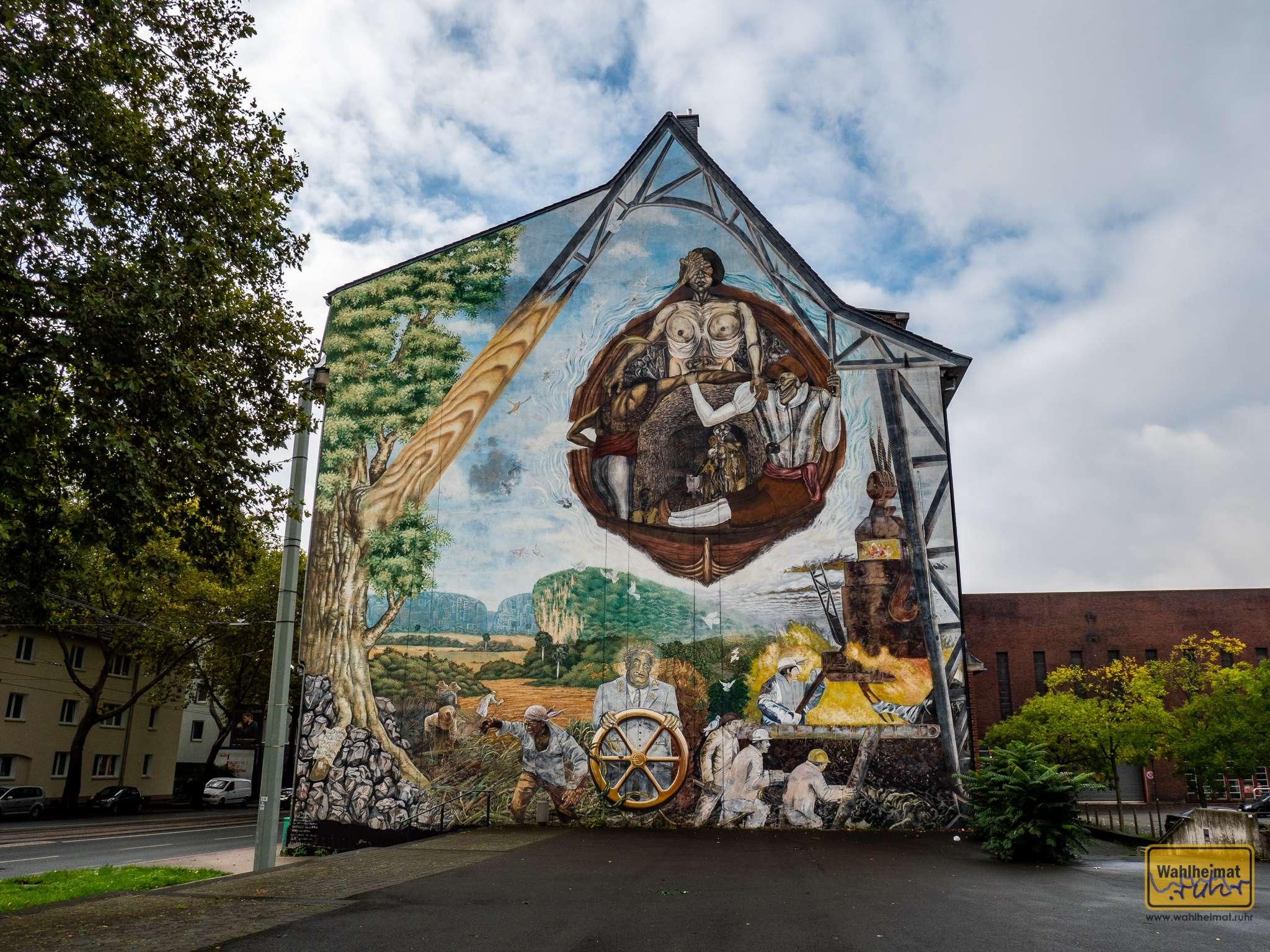 Global Mural. Ein gemeinsames Werk von Kubanern und Deutschen zur Agenda 21.