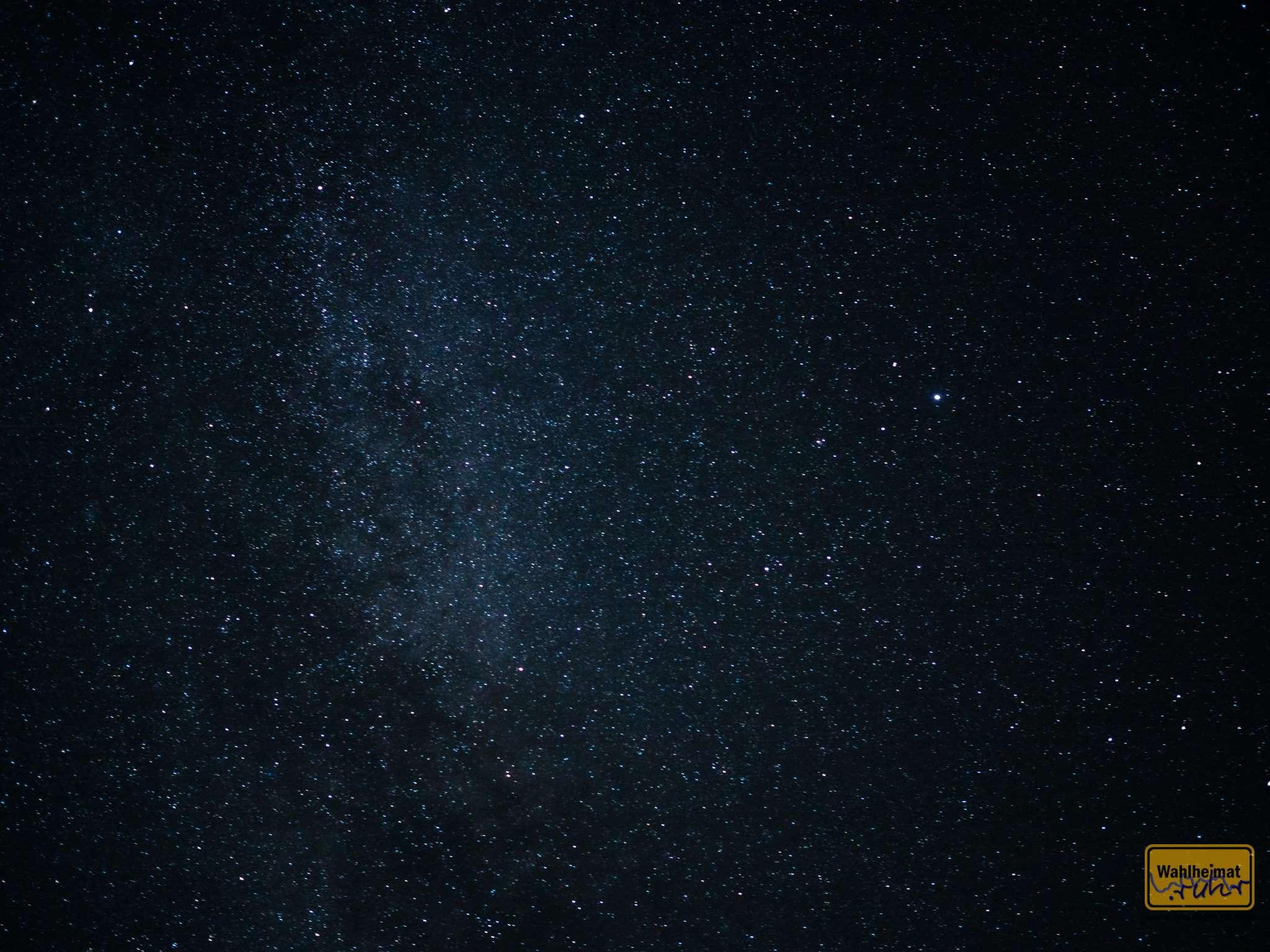 Megakrass: man sieht hier im Resort doch glatt die Milchstraße!