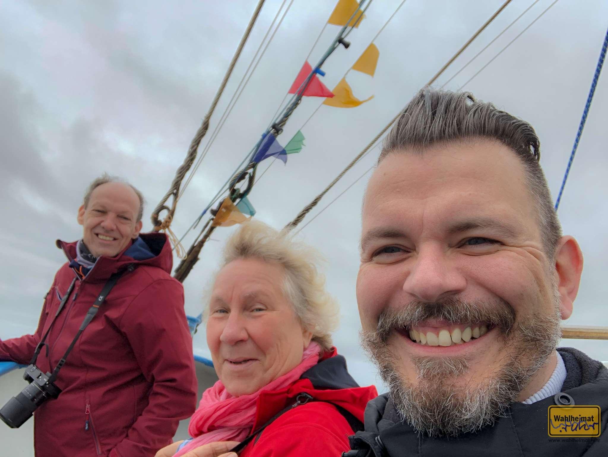 Einmal eine frische Brise Nordseeluft an Bord um die Nase wehen lassen!