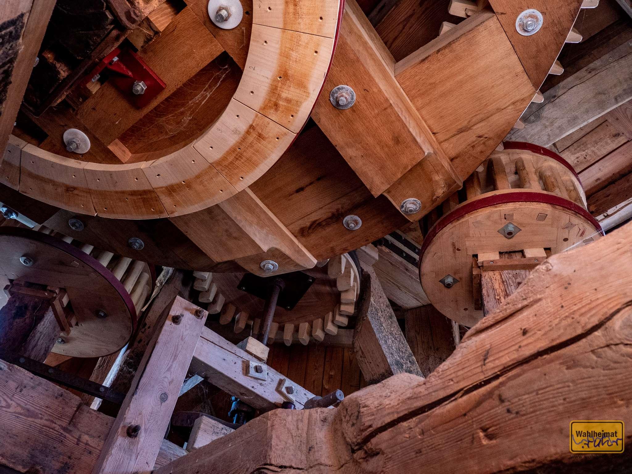 Die Mühle steht tagsüber für Besichtigungen offen.