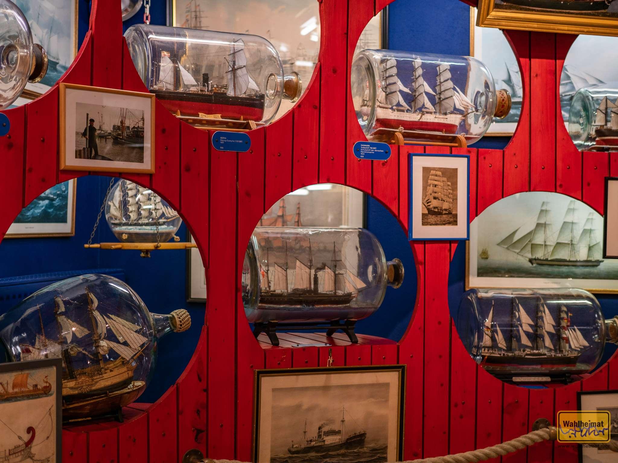 Im Buddelschiffmuseum Neuharlingersiel.