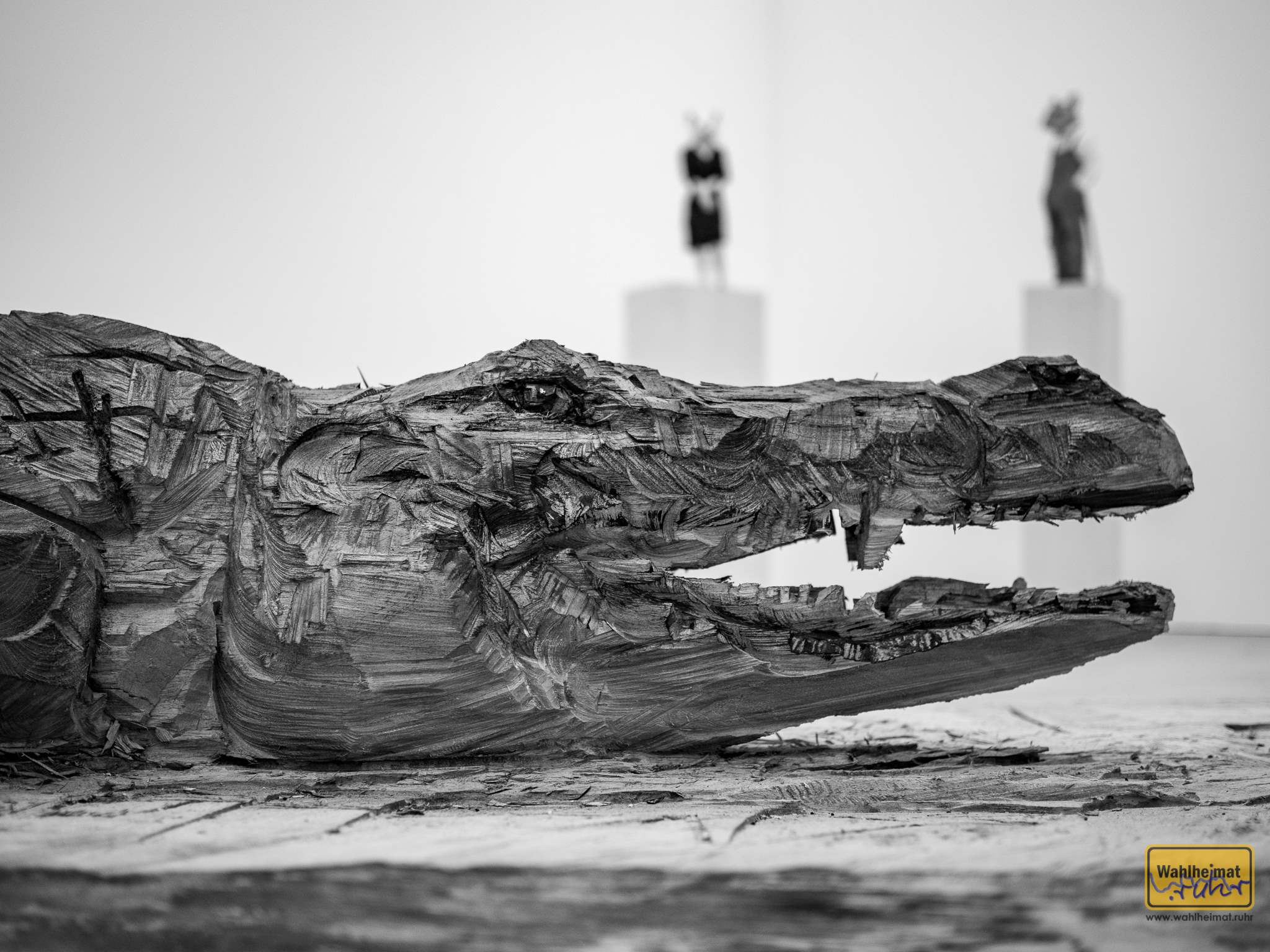 Sehr gelungen - ein Krokodil. © VG Bild-Kunst, Bonn 2020.